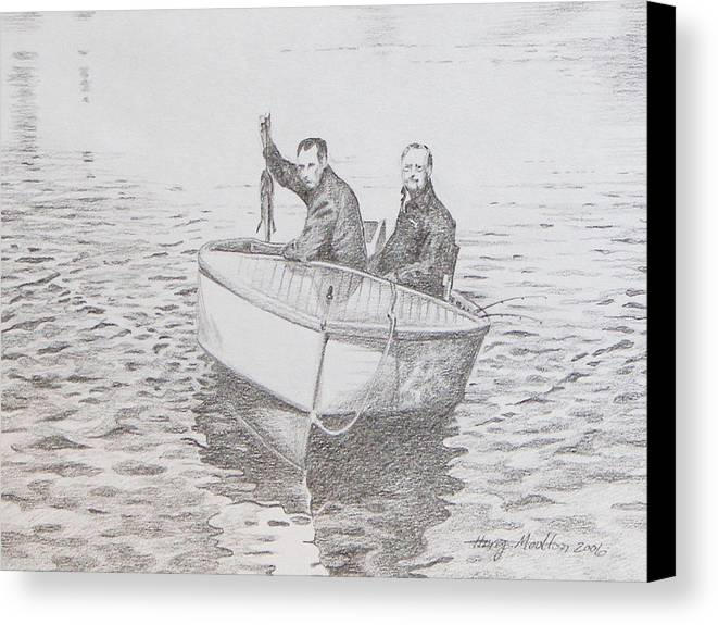 Boat Canvas Print featuring the drawing A Good Day by Harry Moulton