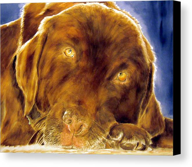 Pet Canvas Print featuring the painting Josie by Susan Gauthier
