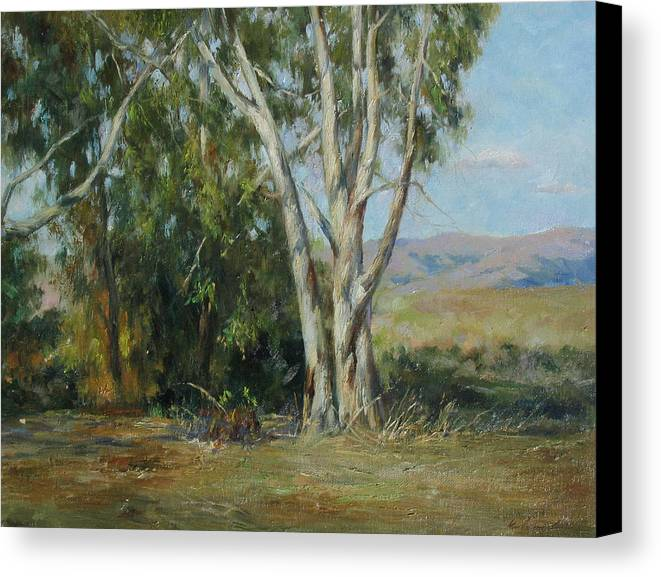 Landscape Canvas Print featuring the painting Ulistac Natural Park D by Kelvin Lei