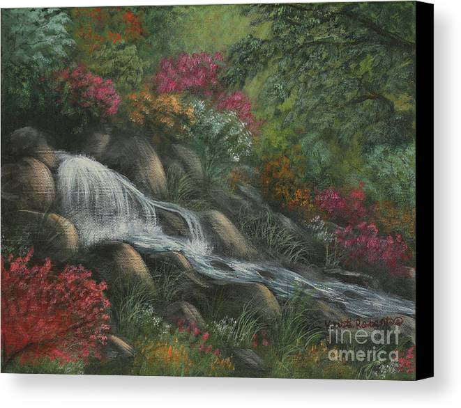 Landscape Canvas Print featuring the painting Flowing Waters by Kristi Roberts
