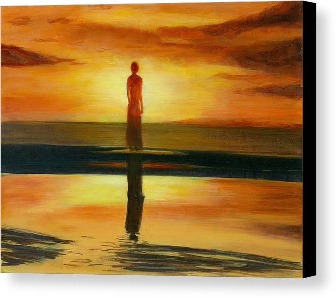 Landscape Canvas Print featuring the painting A Personal Journey II by Paula Emery