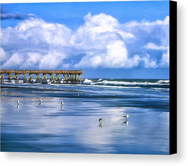 Beach House Isle Of Palms: Beach At Isle Of Palms Canvas Print / Canvas Art By