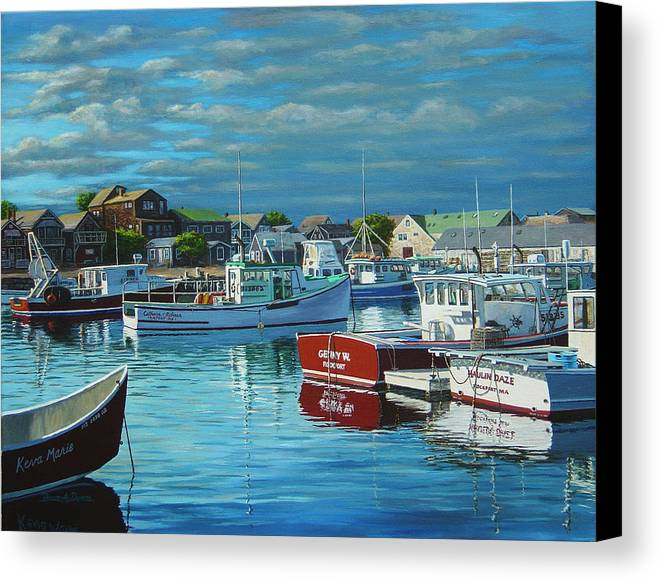 Marine Art Canvas Print featuring the painting Before The Storm by Bruce Dumas