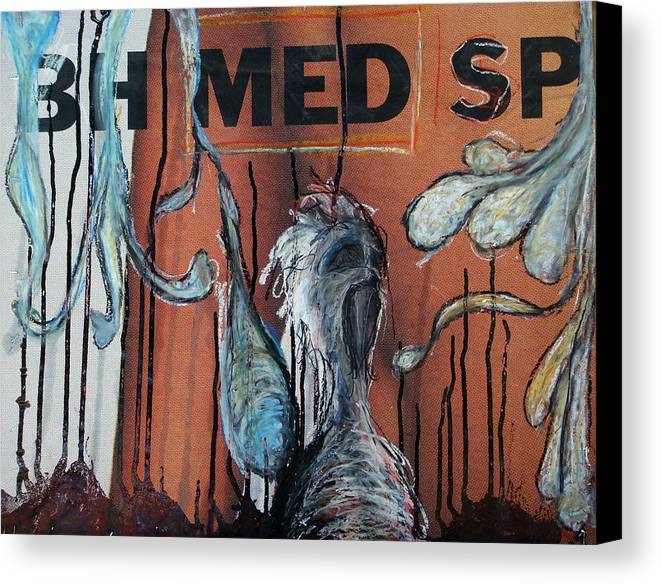Oil Pastel Canvas Print featuring the painting Free Art Number 1005 by Mark M Mellon