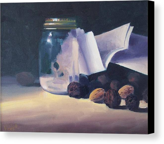 Oil On Canvas Canvas Print featuring the painting The Letter by Michael Vires