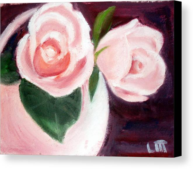Roses Canvas Print featuring the painting The Usual Suspects by Lia Marsman