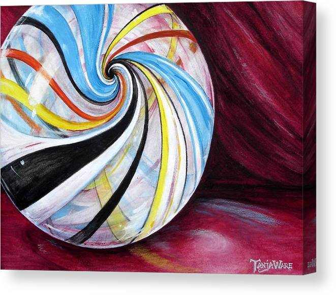 Marble Canvas Print featuring the painting Marbleous by Tanja Ware