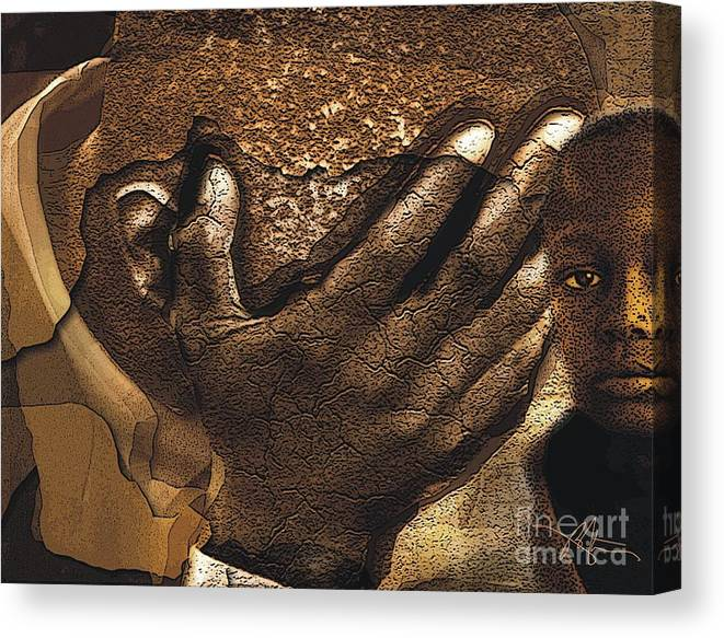 Haiti Canvas Print featuring the digital art Why by Bob Salo