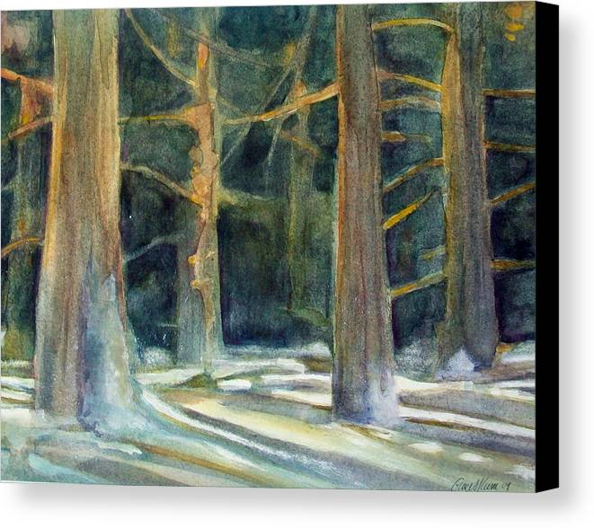 Winter Canvas Print featuring the painting Ancient Light by Grace Keown