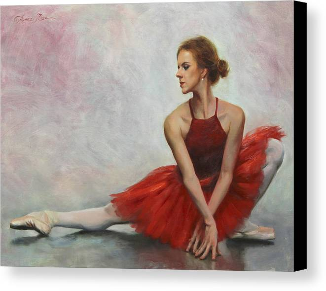 Dance Canvas Print featuring the painting Elegant Lines by Anna Rose Bain