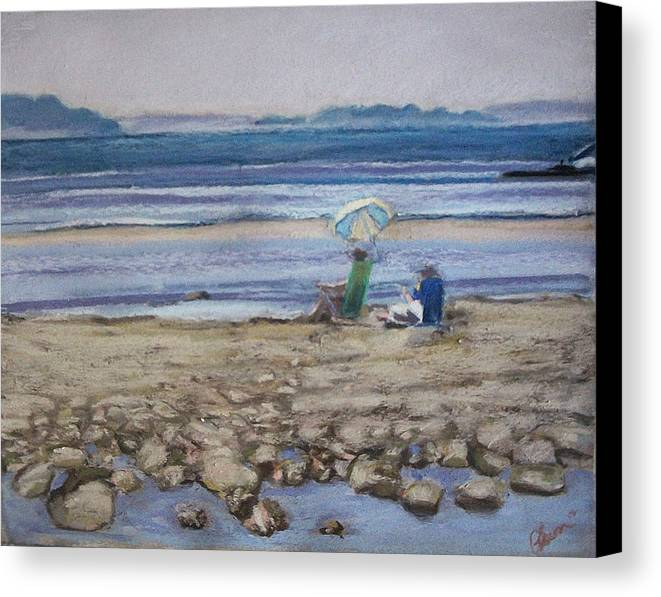 Mid-coast Maine Canvas Print featuring the pastel Saltair by Grace Keown