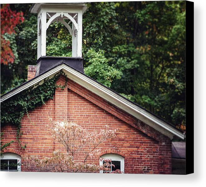 Brick Canvas Print featuring the photograph The Old Erie Schoolhouse by Lisa Russo