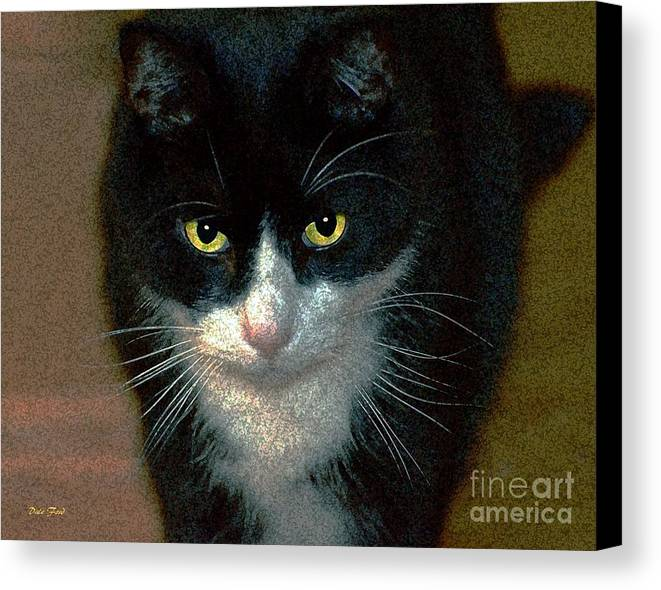 Cats Canvas Print featuring the digital art Max by Dale  Ford