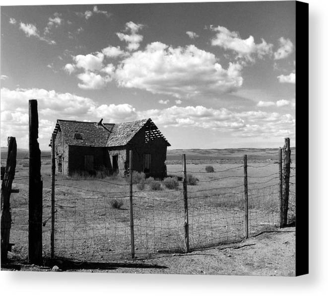 Old West Canvas Print featuring the photograph Adobe Homestead by Allan McConnell