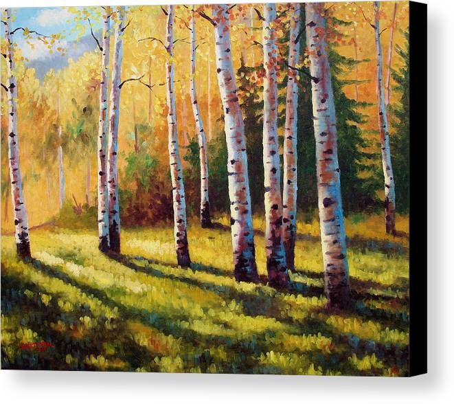 Landscape Canvas Print featuring the painting Autumn Shade by David G Paul