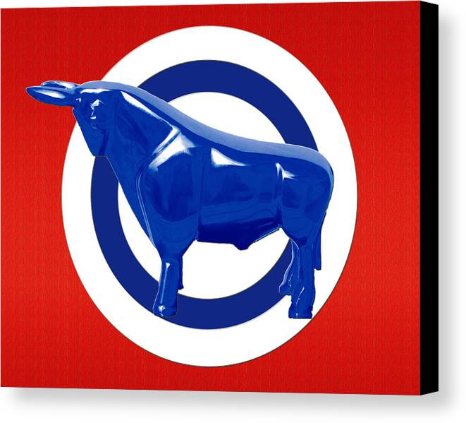 Bull Canvas Print featuring the digital art Bullseye by Slade Roberts