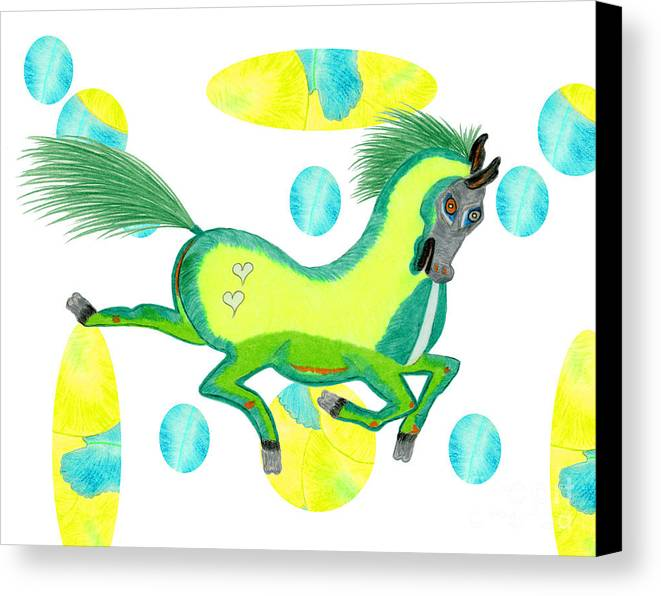 Horse Canvas Print featuring the painting Imu by Tess M J Iroldi