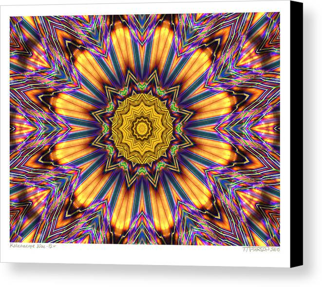 Kaleidoscopes; Mandala Images; Digital Art; Psychedelic Art; Op Art; Mytical Art Canvas Print featuring the digital art kaleido Perfect 10ae 12-plus by Terry Anderson