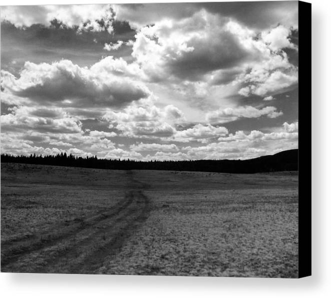 Landscape Canvas Print featuring the photograph Mountain Skyscape by Allan McConnell