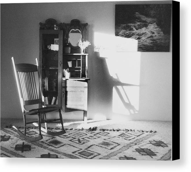 House Canvas Print featuring the photograph Shadow Time by Allan McConnell