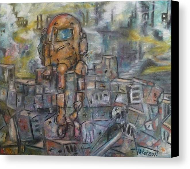 Crayon Canvas Print featuring the painting Survivor  S by Todd Peterson