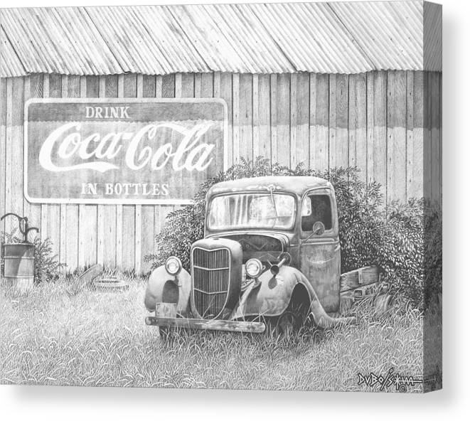Antiques Canvas Print featuring the drawing Memories by Howard Dubois