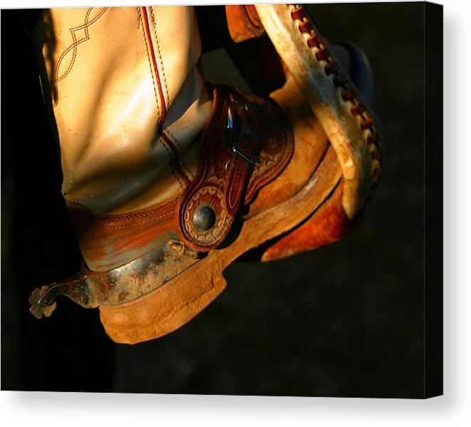 Rodeo Canvas Print featuring the photograph Ready To Run.. by Carol Miller