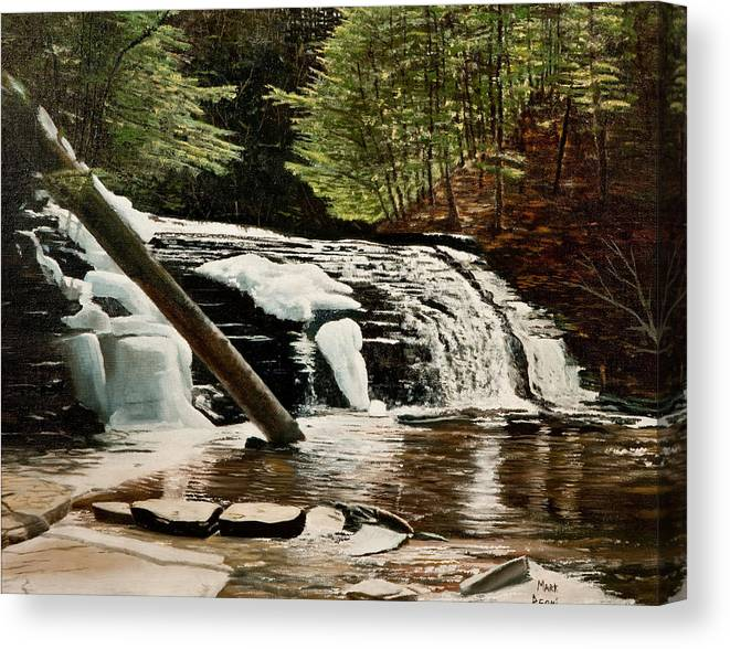 Landscape Canvas Print featuring the painting Salt Springs Spring Melt by Mark Regni