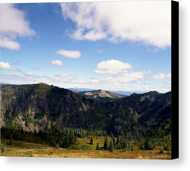Nature Canvas Print featuring the photograph Silver Star Mountain Top by Benjamin Garvey