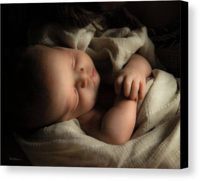 Baby Canvas Print featuring the photograph Perfect Lamb by Helen Thomas Robson