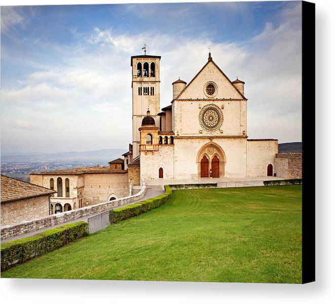 Italy Canvas Print featuring the photograph Basilica Of Saint Francis by Susan Schmitz