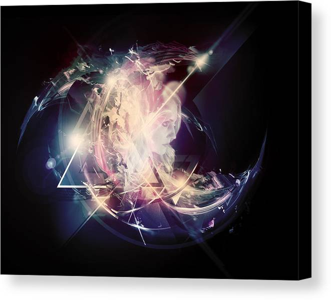 Abstract Canvas Print featuring the digital art Clarity by George Smith