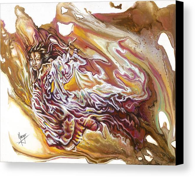 Defiance Canvas Print featuring the painting Defiance by Karina Llergo