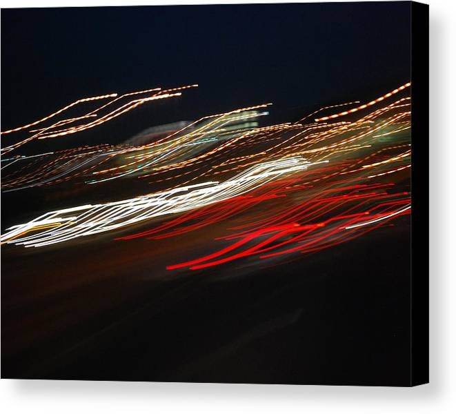 Abstract Canvas Print featuring the photograph Out Of Control by Maggy Marsh