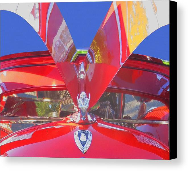 Automobile Canvas Print featuring the photograph Red Wings by Penny Parrish