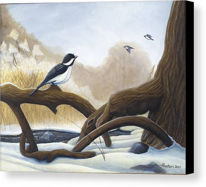 Rick Huotari Canvas Print featuring the painting Where Are You Going by Rick Huotari