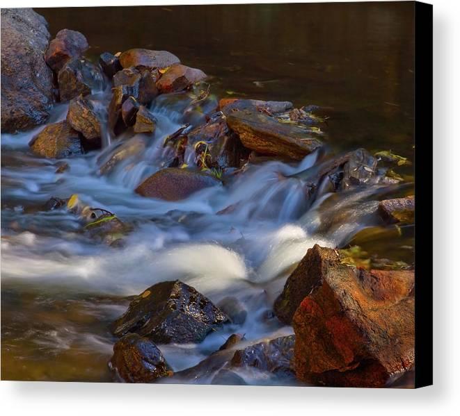 Autumn Canvas Print featuring the photograph Bear Creek Waterfalls by Crystal Garner
