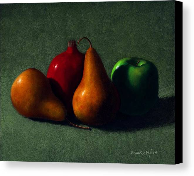 Still Life Canvas Print featuring the painting Autumn Fruit by Frank Wilson