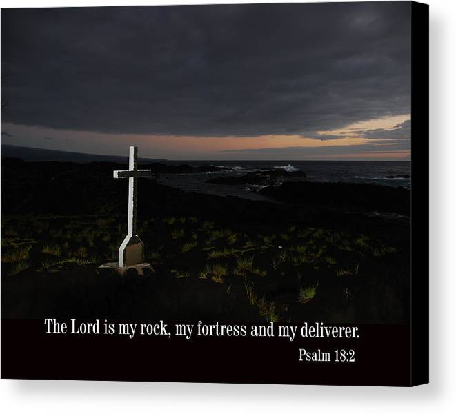 Christian Canvas Print featuring the photograph Cross In The Early Morning by Steven Rice