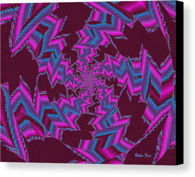 Fractal Canvas Print featuring the digital art Industry by Robin Foss