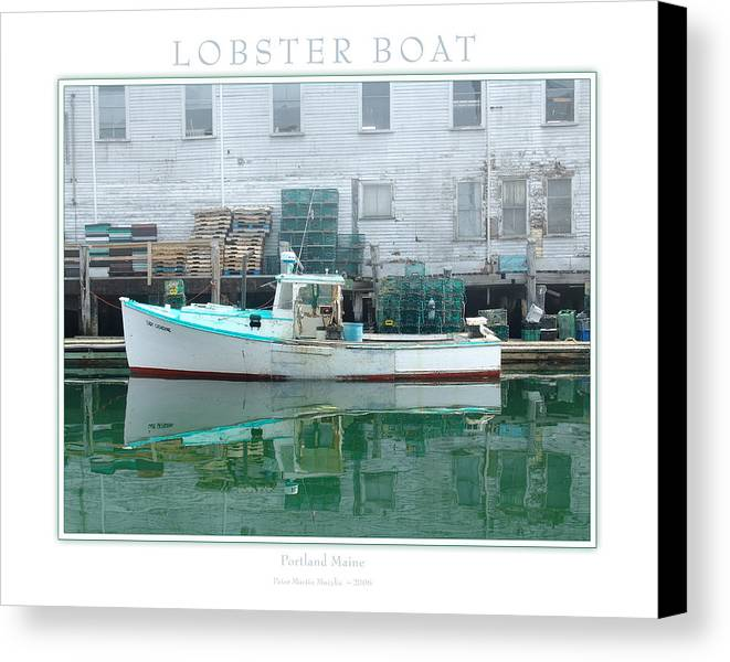 Landscape Canvas Print featuring the photograph Lobster Boat by Peter Muzyka