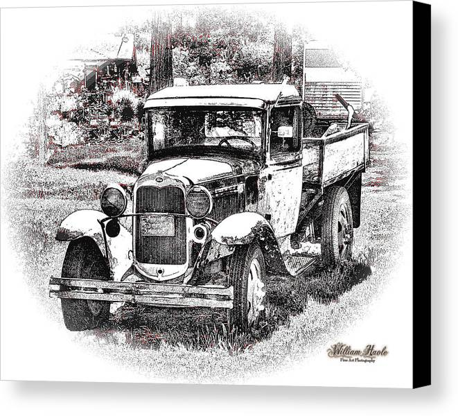 Truck Canvas Print featuring the photograph Old Ford Homemade Pickup by William Havle