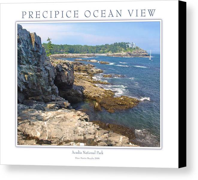 Landscape Canvas Print featuring the photograph Precipice Ocean View by Peter Muzyka
