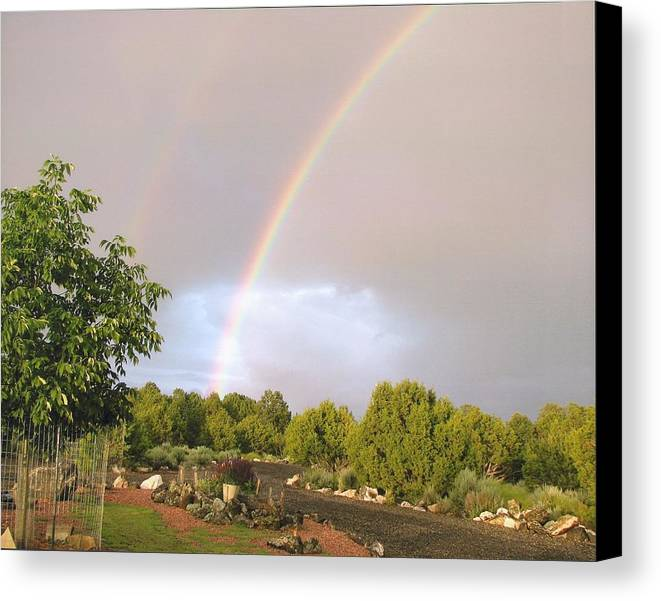 Rainbow Canvas Print featuring the photograph Rainbows Blessing by Yolanda Lange