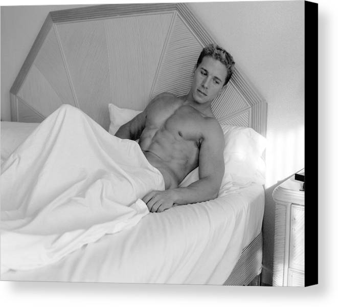 Male Canvas Print featuring the photograph Resting by Dan Nelson