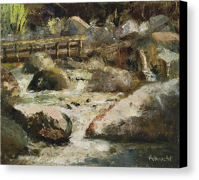 Plein Air Painting Canvas Print featuring the painting Rocky Mountain National Park by Nancy Albrecht