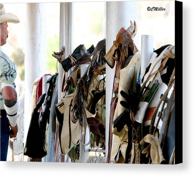 Rodeo Canvas Print featuring the photograph Rodeo Gear by Carol Miller