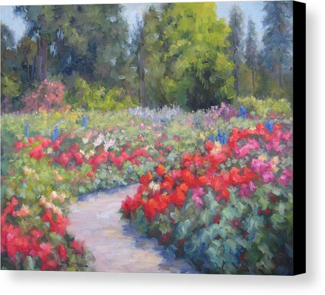 Rose Canvas Print featuring the painting Rose Extravaganza by Bunny Oliver
