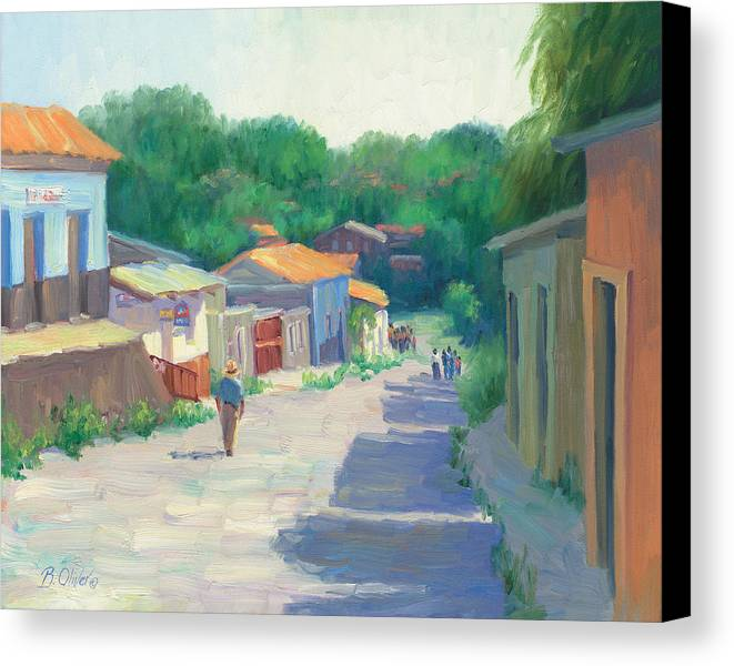 Honduras Canvas Print featuring the painting Sabado - Juticalpa by Bunny Oliver