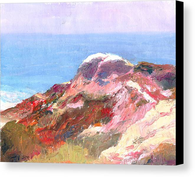 Landscape Canvas Print featuring the painting San Clemente Overlook by Timothy Chambers